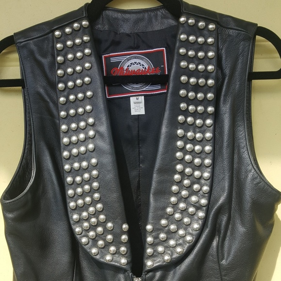 Milwaukee Motorcycle Clothing Co. Other - Studded leather biker vest